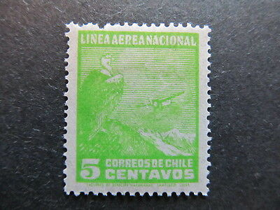 A3P25 Chile Air Post Stamp 1931 5c mh* #23