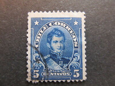 A3P24 Chile 1911 5c used #14