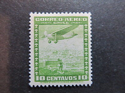 A3P25 Chile Air Post Stamp 1934-39 10c mh* #25
