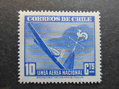 A3P25 Chile Air Post Stamp 1942-46 Unwmk 10c mh* #26