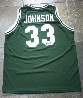 Magic Johnson Signed Auto Michigan State Spartans Green Jersey Jsa Autographed