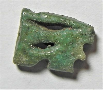 Zurqieh -Af1547- Ancient Egypt , Faience Eye Of Horus Amulet. 600 - 300 B.c