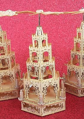 REALY LAST !!!Pyramide Weihnacht P95a ASSEMBLED MINIATUR Pyramid Nativity 7,4 cm