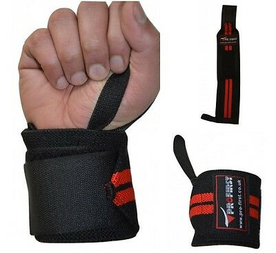 ProFirst Gym Weight Lifting Wrist Wrap Training Support Straps Wraps