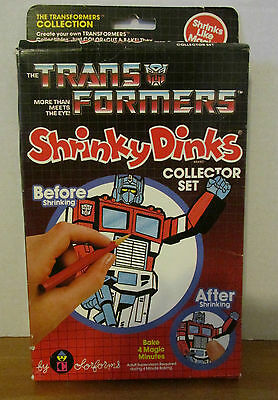 Very Rare Collectible Vintage Transformers Shrinky Dinks By Color Forms
