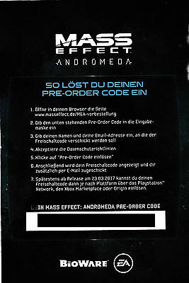 Mass Effect Andromeda Preorder Box für PS4/ Xbox One/ PC+ DLCS+emailversand