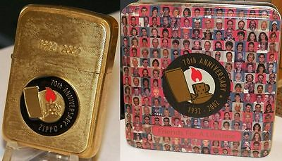 "Zippo 70th Anniversary 1932 2002 ""Friends for A Life Time"""