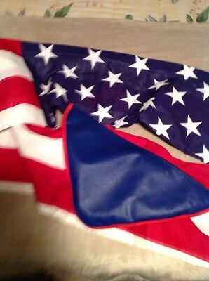 VINTAGE NEVER USED Chicago Flag Co 9.5x5 Foot 50 Star American Flag And Cases