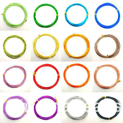 10m of 1.0mm Aluminium Craft Wire, florist armature modelling beading jewellery