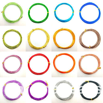 10m of Aluminium Wire, thickness 1.0mm, choice of colours, tiara wirework craft
