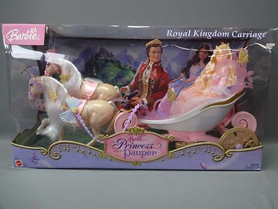 RARE Mattel Barbie 2004 Princess and the Pauper Doll Royal Kingdom Carriage