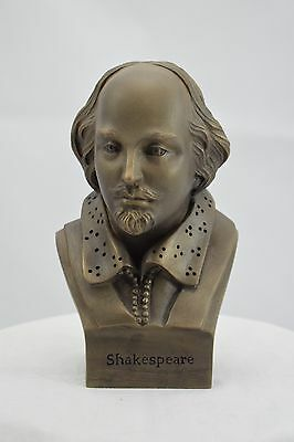 Resin Bronze Bust of William Shakespeare by Paul Back