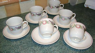 New Boots Orchard Six Cups & Saucers