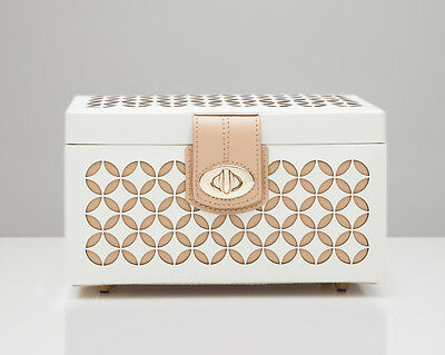 WOLF 301153 Chloé Small Leather Jewelry Box Cream Patterned Leather