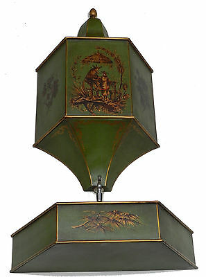 Antique C. 1900 French Tole Wall Fountain Lavabo Whimsical Decoration, Beautiful