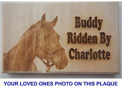 Personalised Plaque PHOTO FOR YOUR Horse Pony Stable OR Trailer   was£19.99