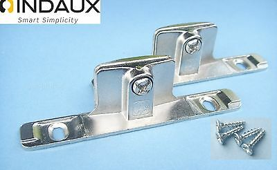 Genuine INDAUX Drawer Front Fixing Brackets (1 Pair) Including Fixing Screws