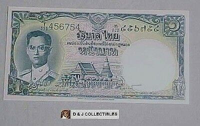 Thailand 1954 ; 1 Baht Note Unc Condition