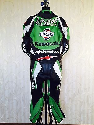 Original Garry McCoy racing suite MOTOGP Alpinestars KAWASAKI season 2003