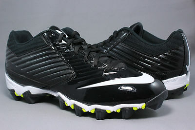 dbf0ba92b 5 of 10 Nike Men s VAPOR SHARK - 643162 010 - New Black Football Training  Cleats Shoes