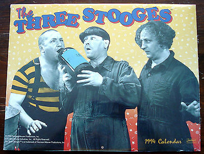1994 Three Stooges Calendar In Original Shrink Wrap