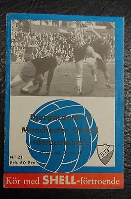 Djurgardens V Manchester United  Fairs Cup 1964/65  Official Programme