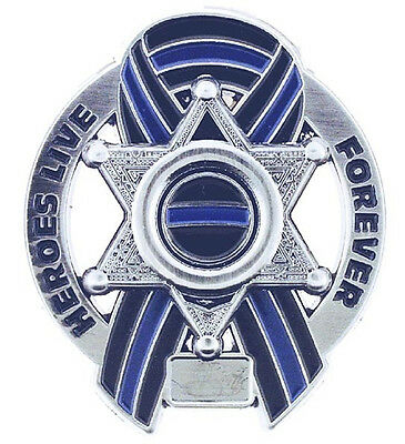 Heroes Live Forever Memorial 6 Point Star Pin