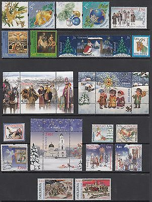 Moldova 2007-2016. Merry Christmas.New Year.Collection.Complete set MNH