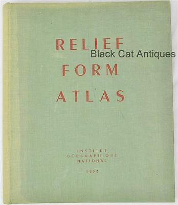 RELIEF FORM ATLAS  Institut Geographique National 1956 3D with Included Glasses