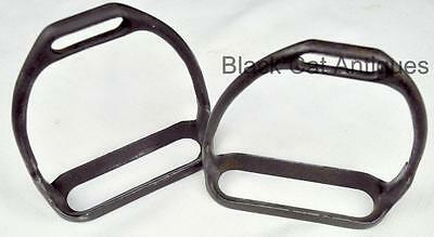 Pair WWI US Army Cavalry M1912 Steel Stirrups for McClellan Saddle U.S. B.M. Co.