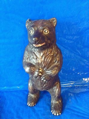 Grizzly Bear Cast Iron Coin Bank