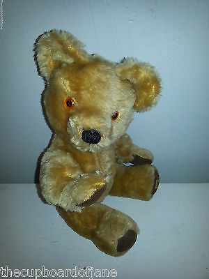Vintage Merrythought Mohair Teddy Bear Jointed Plush
