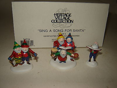 Dept 56 North Pole Accessory - Sing A Song for Santa - 3 Pc Set