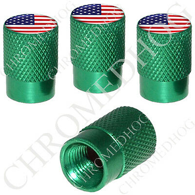 4 Black Billet Aluminum Knurled Tire Air Valve Stem Caps US ARMY EAGLE GR 9OB