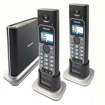 Philips MSN Dual Phone Double VOIP4332B/37  Free Calls Worldwide Internet Skype