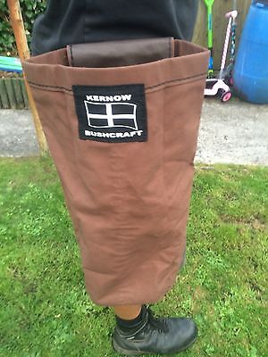 Forager Bushcraft Hunting Survival Camping Pouch Large Waxed Canvas And Leather