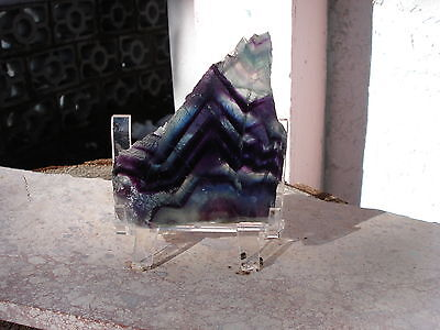 Purple-Green Flourite Rainbow Slice -Vibrant Colors-Balances-All Chakra!