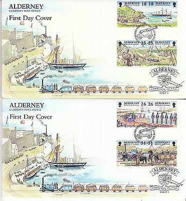 Alderney 1997 Garrison Island (1st) Set on Official FDC's SGA102-9 Cat £6.50