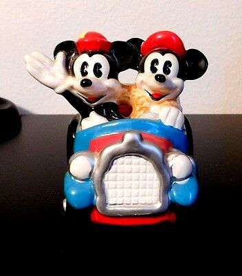 Mickey And Minnie Mouse In Vintage Car By Schmid Figurines