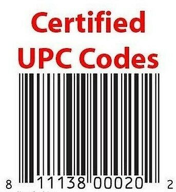 1000 UPC EAN Numbers for Amazon Barcodes Bar Codes eBay Lifetime Guarantee