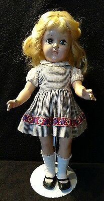 """Vintage 1950s Ideal Toni doll P-90 14"""" with stand"""