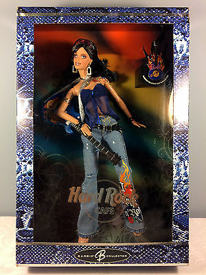 2005 Hard Rock Cafe Barbie Doll #3 - Jeans w/ Blue Guitar + Collector Pin - NRFB