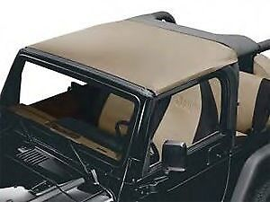 Jeep Tj Wrangler 97-02 - Sun Bonnet Bikini Front Only - Black  (Parts)