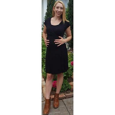 Motherhood Maternity Nursing Dress Black Size Large