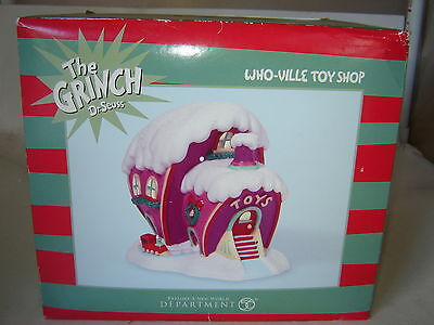 Dept 56 Grinch Village - Who-Ville Toy Shop - NIB