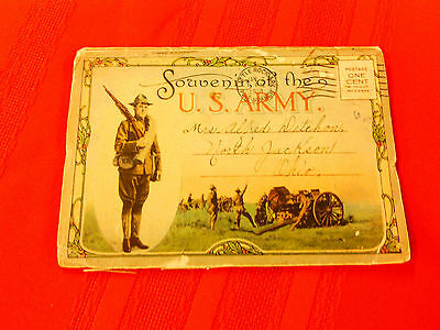 1918 WW I post card booklet