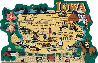 Cat's Meow Village US MAP Iowa The Hawkeye State #RA663 NEW Ship Discounts