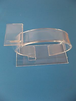 Wholesale Lot of 10 Horizontal Watch Display Stand Plastic Watch Holder Clear