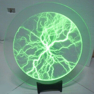 "16"" Plate Dish Colorized Plasma Lightning Lamp in Holiday Party Disco Night Club"