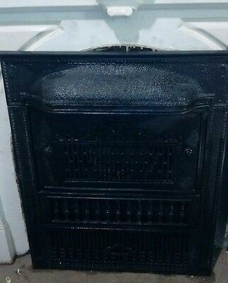 Vintage Antique Ornate Cast Iron Coal Burning Stove Furnace Door ~Early 1900's~